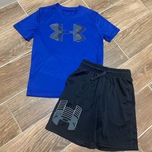 Boys Under Armour Shirt and Shorts